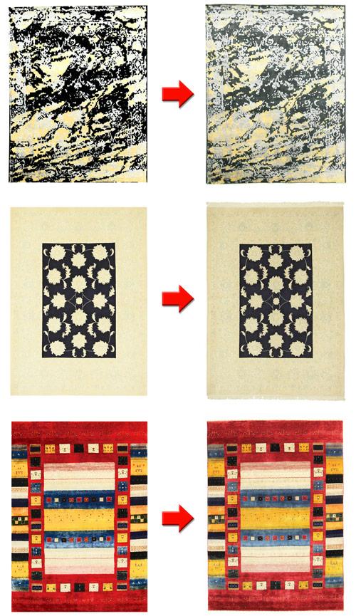 Fabrication personnalisée de tapis noués à la main